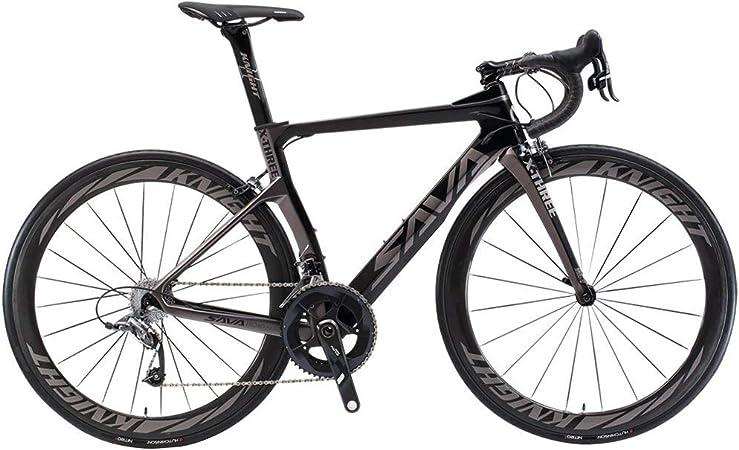 SAVADECK Phantom 2.0 700C Bicicleta de Carretera de Fibra de Carbono Shimano Ultegra R8000 22-Velocidad Sistema Michelin 25C Neumáticos Fizi: k Cojín: Amazon.es: Deportes y aire libre