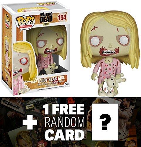 Teddy Bear Girl: Funko POP! x Walking Dead Vinyl Figure + 1 FREE Official Walking Dead Trading Card Bundle (Simpsons Teddy Bear)