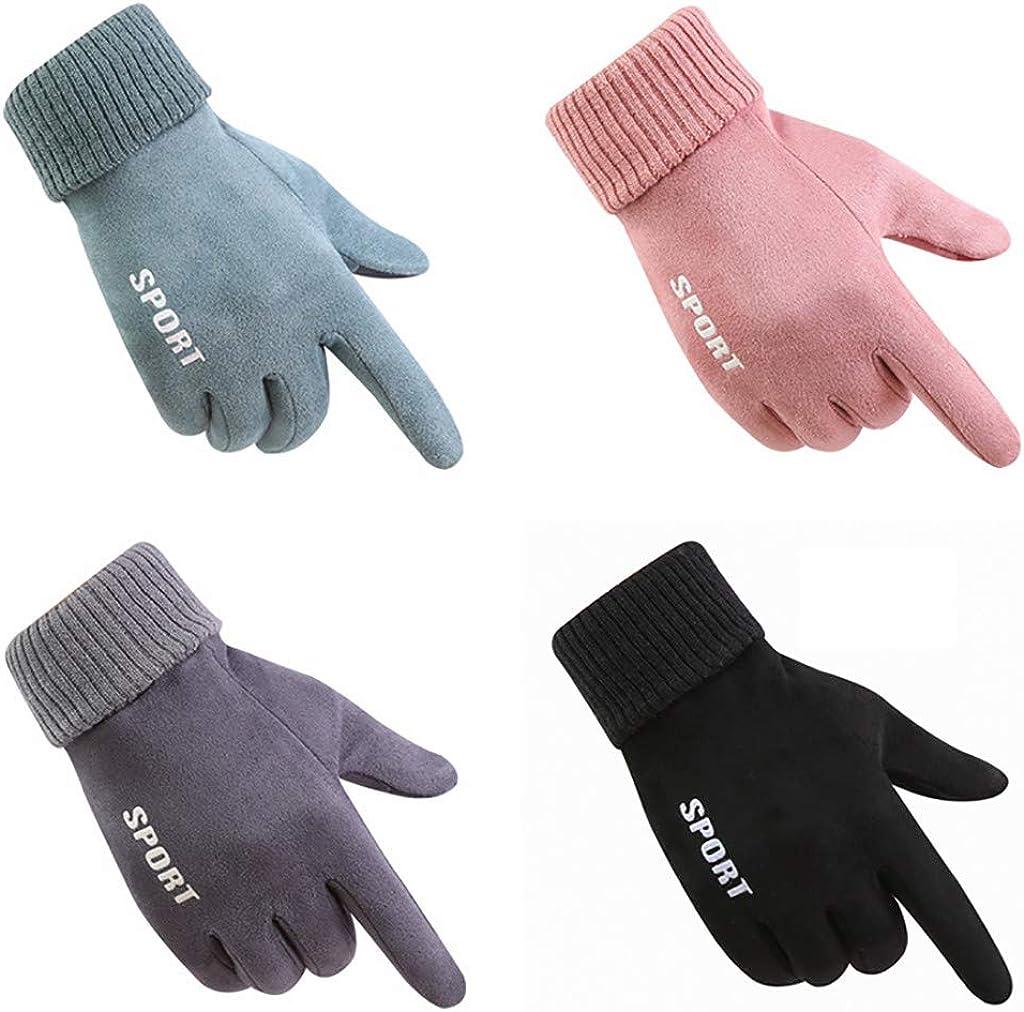 Fingerless Gloves for Women Winter Warm Touch Screen Gloves Outdoor Gloves