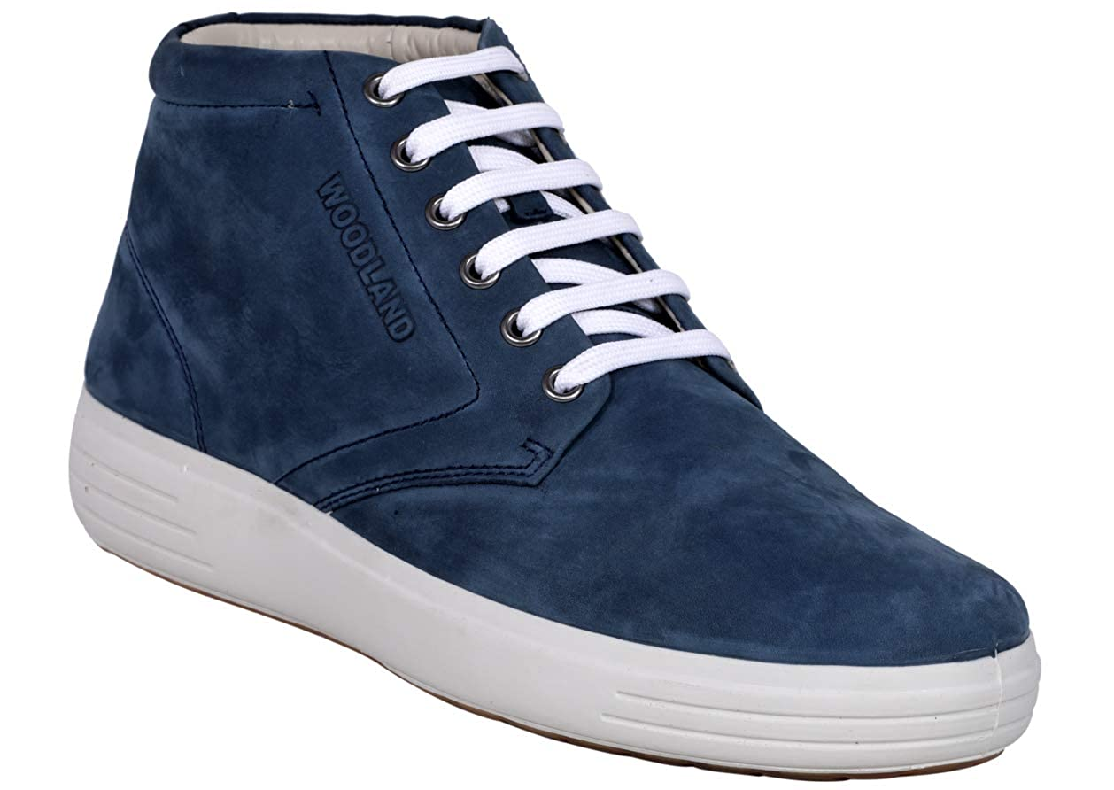 Buy Woodland Men's Blue 1 Leather Boots