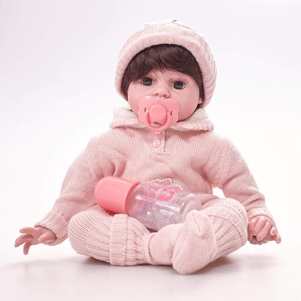 Hongge Reborn Baby Doll,Realista bebé muñeca Realista Silicona Renacimiento muñeca niño Juguete Regalo 50cm