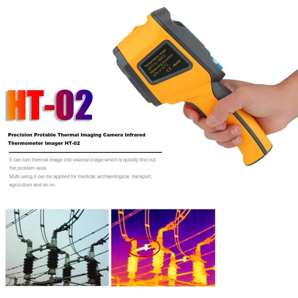 Infrared Thermal Imager Precision Protable Thermal Imaging Camera IR  Thermometer Temperature Gun Non-contact -20  to 300  Digital LCD Display   Amazon.in  ... 497716ce190c0