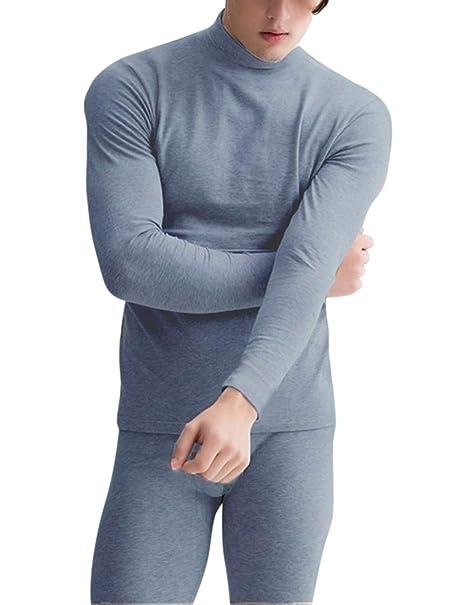Lanlan 2 piezas, Ropa interior de hombre, Conjunto de ropa interior térmica gruesa