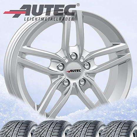 4 Invierno ruedas autec Kitano 7 x 16 et31 5 x 120 Brillant Plata con 205