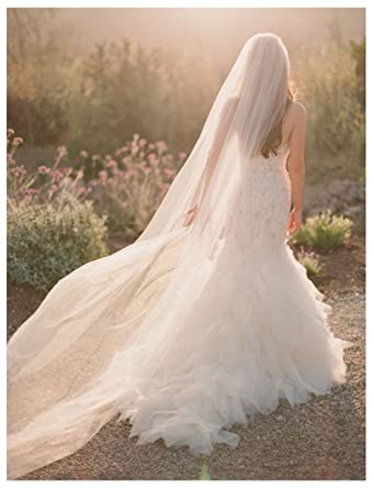 Shine Love Soft Tulle Wedding Bridal Veil 3 Meters Long Cathedral For Bride 11044