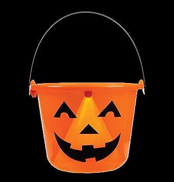 Amazon.com: Light Up Jack O Lantern Halloween Candy Bucket Pail ...