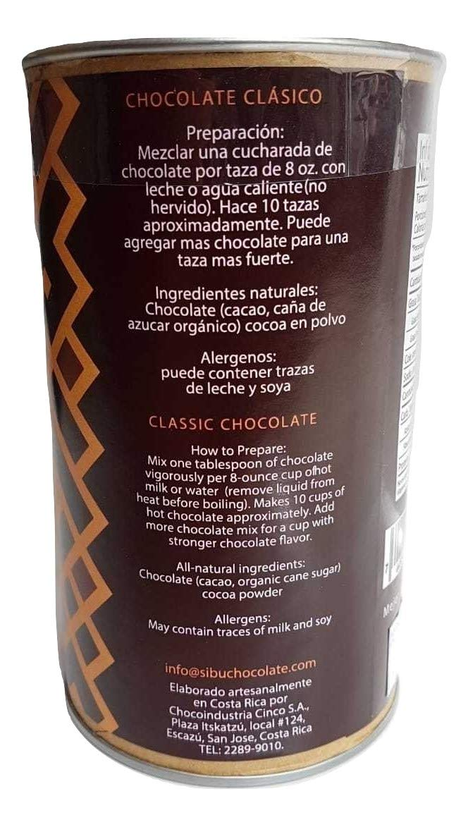 Cafe 1820 Costa Rican Coffee (250 gr) bundled with Sibu Clasico Costa Rican Gourmet Hot Chocolate...