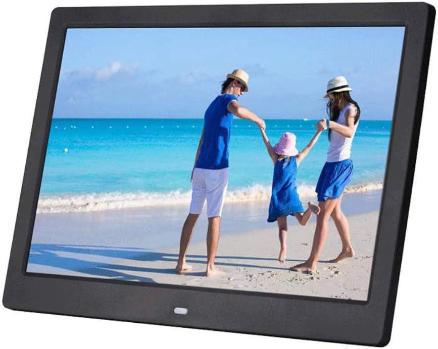 WANGOFUN 12 Inch Digital Photo Frame Digital Picture Frame Advertising Media Player Wide Screen Advertising Machine MP3//Photo//Video Player with Remote Control,White