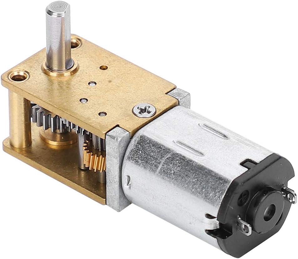 DC12V68RPM Mini motoriduttore in metallo Micro motori elettrici per ventilatori N20 DC12V con riduzione della velocit/à CW//CCW Micro motore