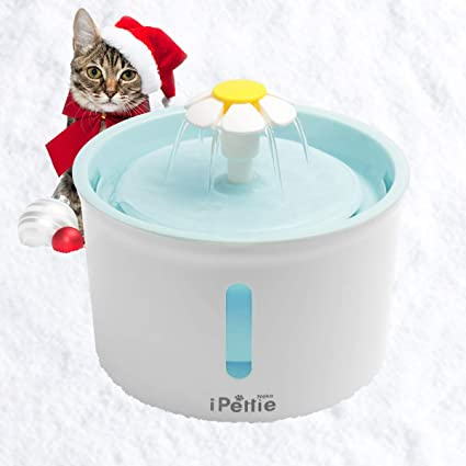 Automatic Electric Water Dispenser for Cats and Dogs Color Green with Mat Hommii Pet Drinking Water Fountain 1.6 Liters with Super Quiet Pump and Replaceable Filter