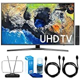 "Samsung UN40MU7000 40"" UHD 4K HDR LED Smart HDTV, Black (2017 Model) w/ TV Cut The Cord Bundle Includes, Durable HDTV & FM Antenna, 2x 6ft. High Speed HDMI Cable & Screen Cleaner for LED TVs"