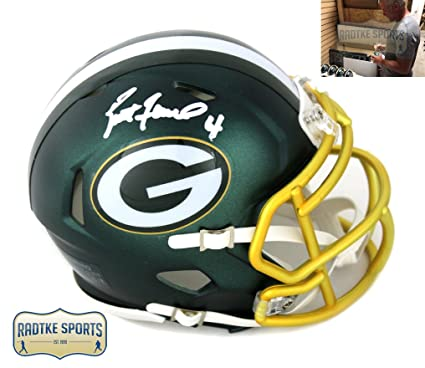 Brett Favre Autographed//Signed Green Bay Custom Road White Jersey withHOF 16 Inscription