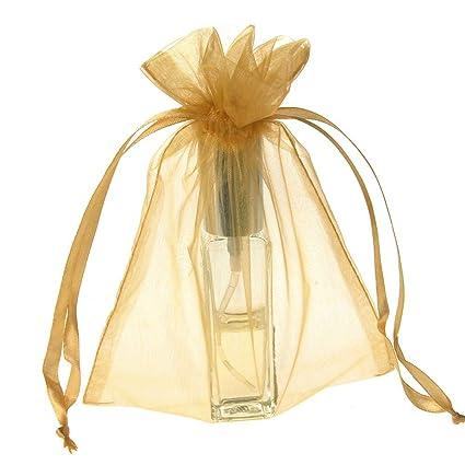 Amazon.com: Organza Favor bolsa de bolsas, paquete de 12 (5 ...