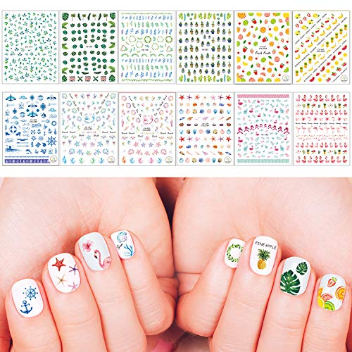 Whaline Summer Nail Art Stickers 3D Self-Adhesive Stickers for sale  Delivered anywhere in USA