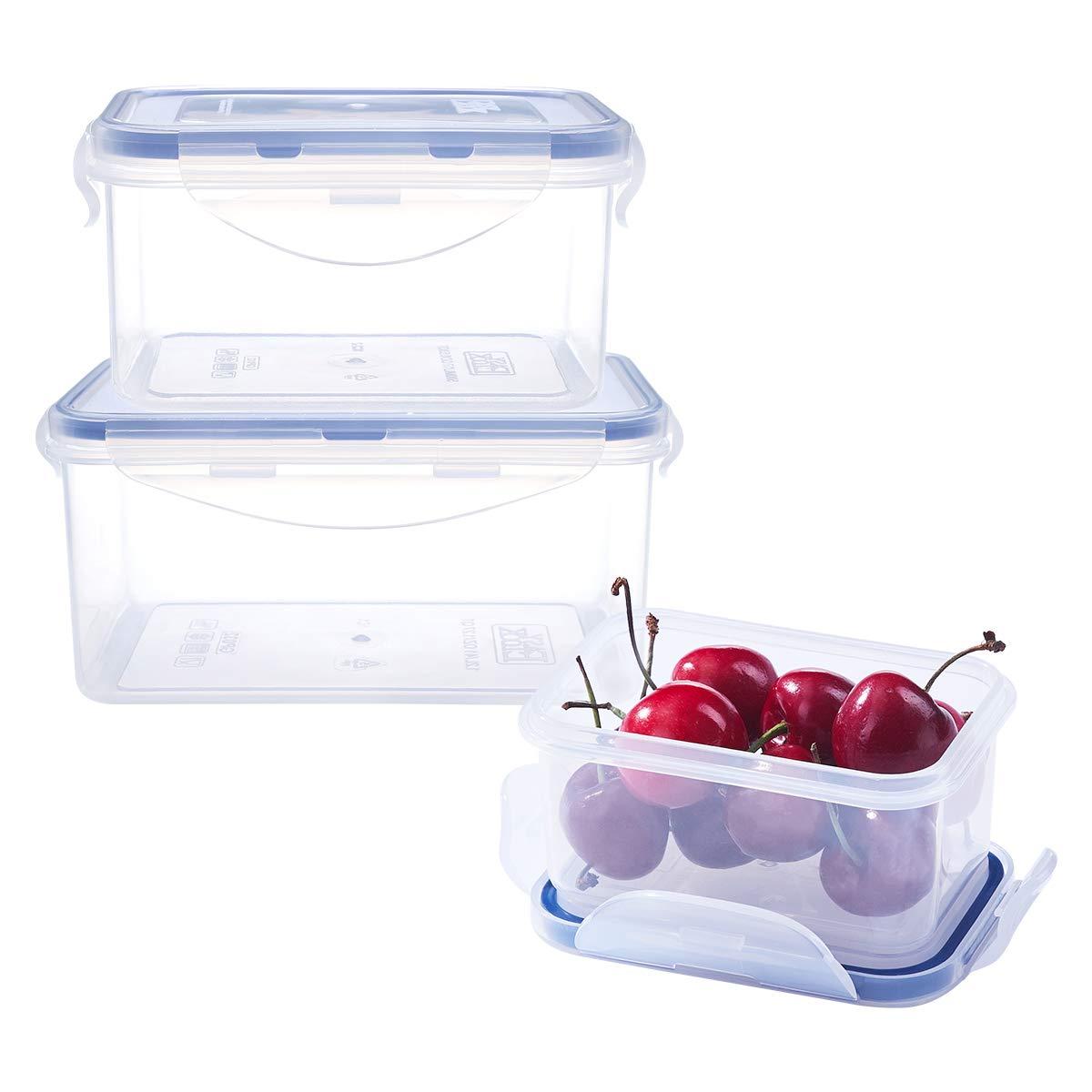 低価格の 6ピースAssorted食品ストレージセット長方形プラスチックコンテナ – 冷凍庫電子レンジ安全 – B07C1PX1WN 100 – % airtight % leak-proofプラスチックスナップロック蓋 B07C1PX1WN, ハーブ&アロマ パナセア:c4897310 --- beyonddefeat.com