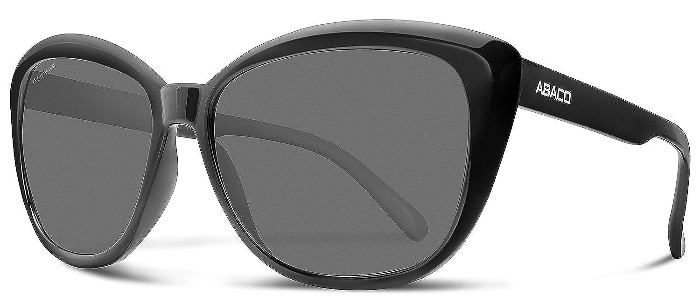 Abaco Kateye Junior Sunglasses Gloss Black Frame Grey Lenses