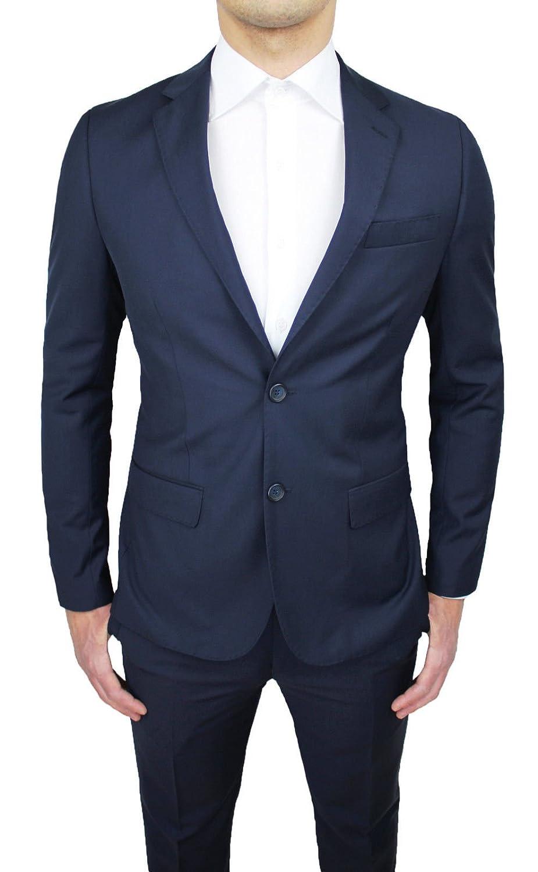 Abito Completo Uomo Sartoriale Blu Scuro Slim Fit Nuovo Elegante Cerimonia Taglie da 44 a 60