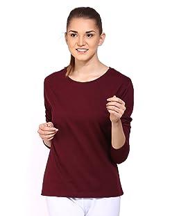 Ap'pulse Women's Regular fit Sports T-Shirt (242_Maroon_S)