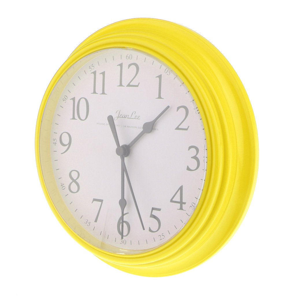 Amazon.com: Homyl 9 inch Silent Universal Round Wall Clock - AA Battery Operated - Colorful Analog Clock Great for Home Office Classroom or Garage - Yellow: ...