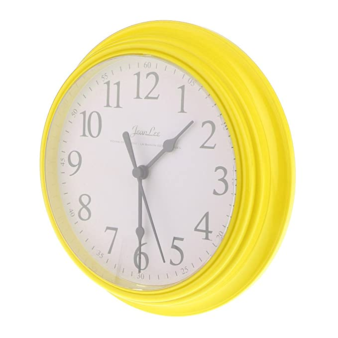 Amazon.com: Baoblaze Silent Wall Clock 9 Inch Non-ticking Battery Operated Round Clock - Yellow: Home & Kitchen