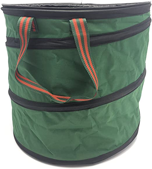 Bolsa reutilizable de basura Hyindoor para hojas y desechos de jardín, diseño plegable: Amazon.es: Jardín