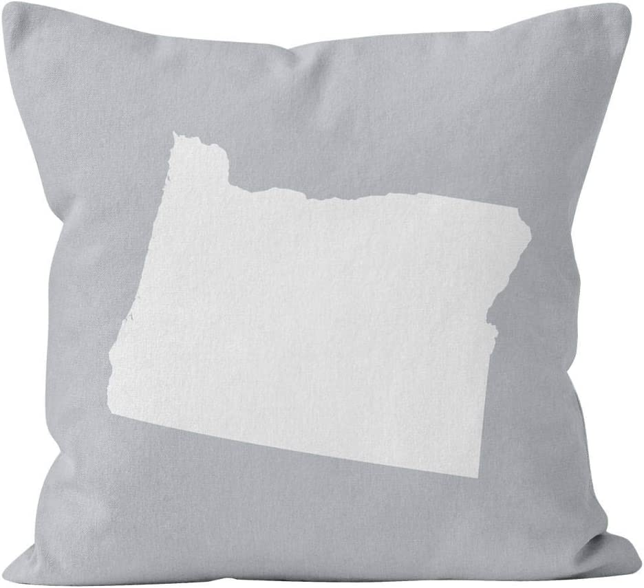Flowershave357 Oregon State Throw Pillow Cover Oregon Home Decor Oregon Gifts OR New Home Missing Home Pillow Gift