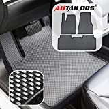 AUTAILORS Tesla Model S Floor Mats- All Weather Floor Mats Waterproof Lightweight and Odorless Made in USA- 3pcs in Normal