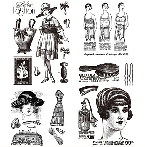 Layhome Vintage Clear Stamp Stamping Scrapbooking Notebook Album Cards Decor (Lady) by Layhome (Image #3)