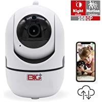 BIG+1080p Smart Home/Pet Camera with Night Vision, 2-Way Audio, Motion Detection, FHD, Indoor , Baby Monitor, 355-degree…