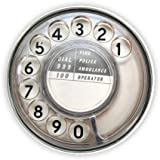 Phone dialer (smoked plastic dial) Compact Mirror Printed Bespoke Designed 58mm Round Novelty Make up mirror ideal for your handbag. KABOOM GIFTS