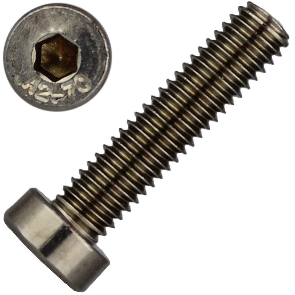 10 Stü ck Zylinderschrauben M6 X 16 mit Innensechskant, niedr. Kopf DIN 7984 Edelstahl A2 dely trade