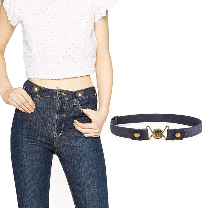lalafancy Cinturón elástico sin hebilla Mujeres Hombres No ...