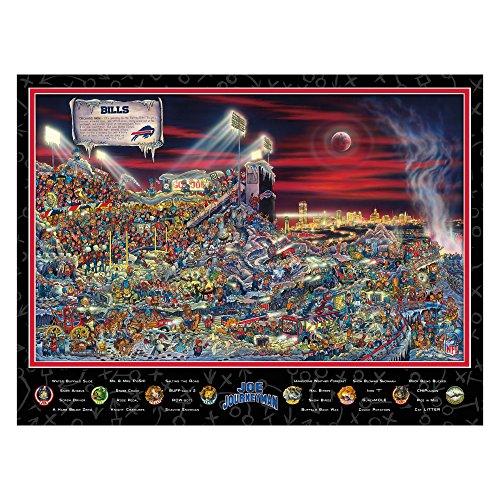 Buffalo Bills Puzzle - Joe Journeyman NFL Buffalo Bills Jigsaw Puzzle, 500-Piece