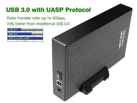 WAVLINK USB 3.0 Cárcasa para Discos Duros HDD de 3.5