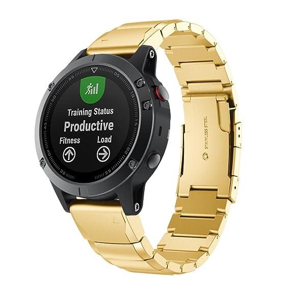 OverDose Correa GPS Garmin Fenix 5 Pulsera de Acero Inoxidable de liberación rápida 22/195