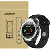 for TicWatch Pro Band, Lamshaw Sport Silicone Replacement Strap for TicWatch Pro Bluetooth Smart Watch (Silicone-Black)