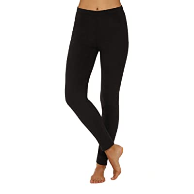 Cuddl Duds ClimateRight Women's Stretch Fleece Warm Underwear Leggings at Women's Clothing store