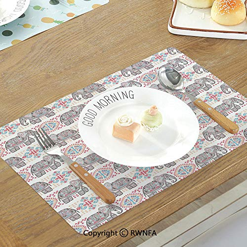 SfeatruMAT Printing Customized Table Mat Whale Marine Gang Octopus Crab Turtle Seahorse Pacific Sun Underwater Ocean Playroom Design Non-Slip Heat Resistant Decor Placemat (Best Summer Infant Toddler Cds)
