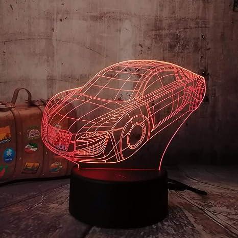 4 Pack, 3D Boy Car Table Desk Lamparade mesa Infantil Noche ...