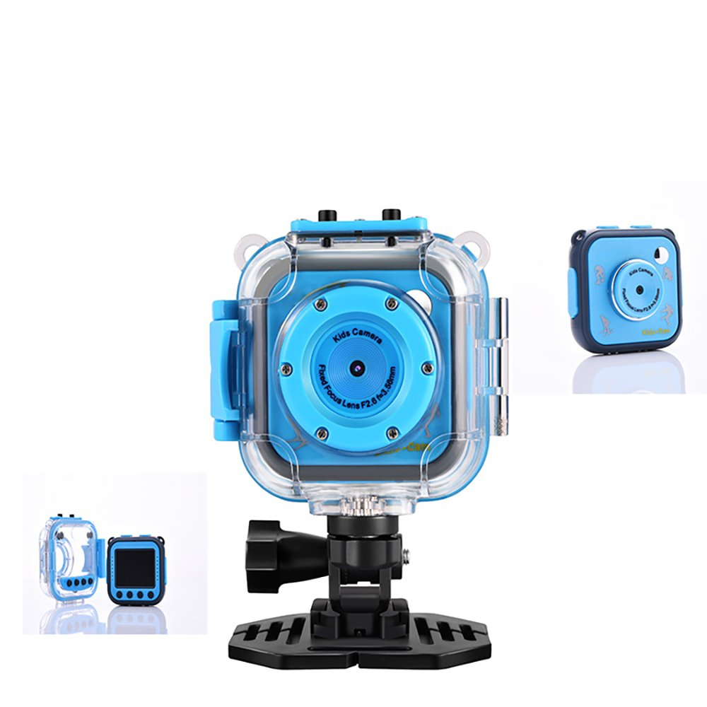 Powpro Kids Waterproof Digital Camera with Wifi and Video Recorder 1.77' LCD Screen Camera(Not Include SD card)-Blue