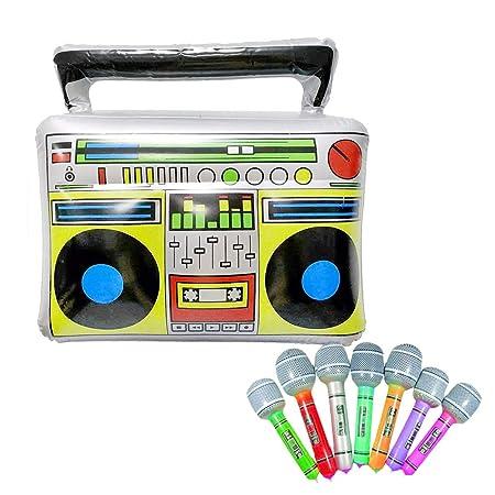 EisEyen 7 Pieza Hinchable Micrófono + Simulación Radio Voice ...
