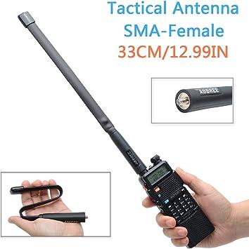 BF-888S Two Way Radio UV-82 HYS Foldable Antenna CS Tactical SMA-Female Dual Band VHF UHF 144//430Mhz Antenna for Baofeng UV-5R