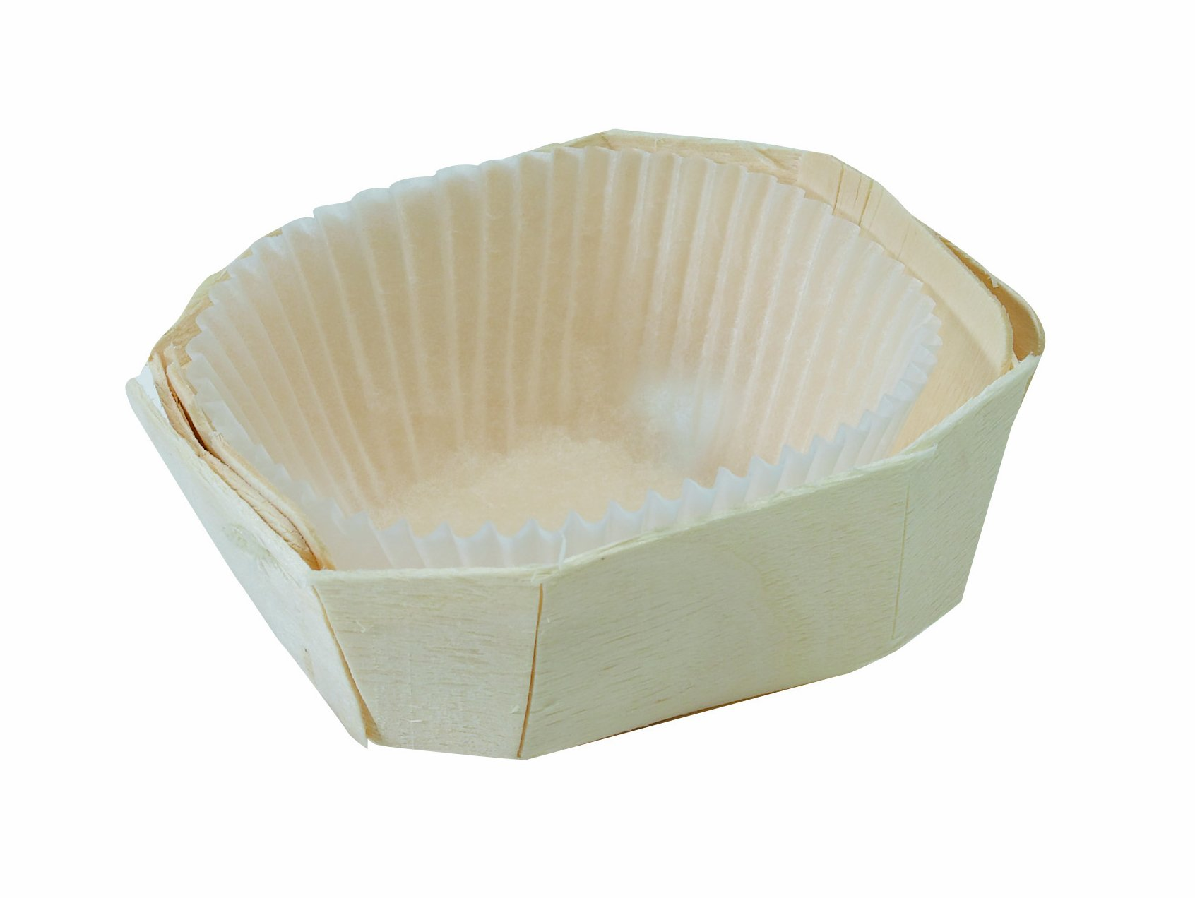 PacknWood Wooden Baking Mold, Baking Liner Included, 2 oz. Capacity (Case of 500)