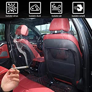 FiGoal Car Isolation Film Plastic Anti-Fog Full Surround Protective Cover Cab Taxi Front and Rear Row Isolation Film Transparent Isolation Membrane Curtain PVC Film Protective Cover