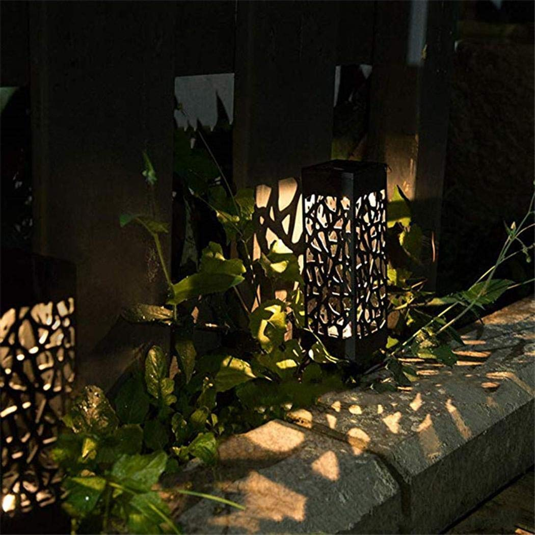 bommon LED Solar Outdoor Garden Decoration Waterproof Hollow Out Lawn Light Decking & Patio Lighting