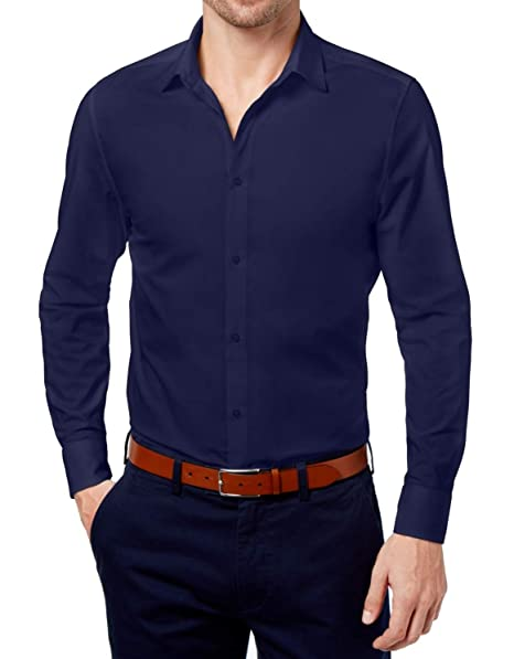 finest selection c3bc9 388c6 Daniel Hechter Mens Modern Fit Button Down Shirt at Amazon ...