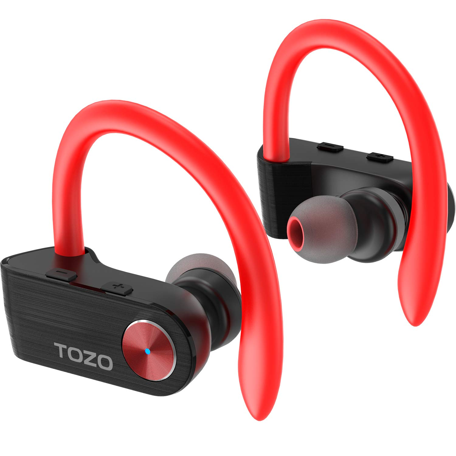 TOZO T5 TWS Bluetooth Headphones True Wireless Stereo Sport Earphones with Mi HD Sound with Bass Earbuds Noise Cancelling Headsets for Gym Running Workout Super Easy Pair