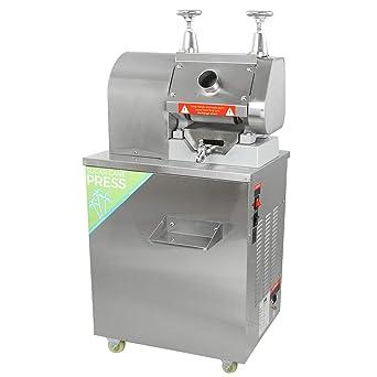 KuKoo - Máquina Exprimidora de Caña de Azúcar Exprimidor Acero Inoxidable Extractor de Azúcar