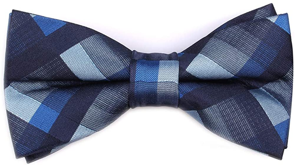 Skinny Ties for Mens Novelty Plaid Check Business Wedding Fashion Formal Neckties 2.7, Pocket Square, Bow Ties