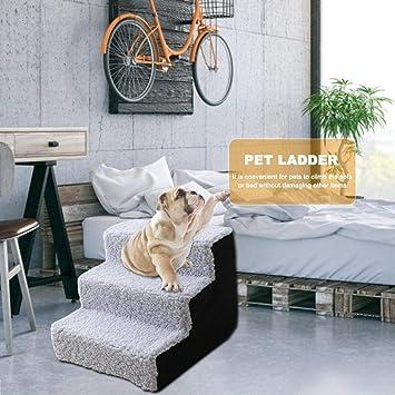 Yshen Escaleras para Perros Escalera para Mascotas Escalera para Perros Escalera de rampa para Animales para Perros pequeños Perros Lavables Perro para Escalar Peluche Cama para sofá: Amazon.es: Productos para mascotas